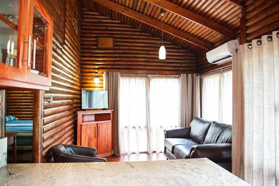 Loskopdam, A Forever Resort | Holiday resort at Loskop Dam near Middelburg, Emalahleni, Witbank, Groblersdal | self-catering, leisure, camping, corporate, conference, weddings, accommodation | Mpumalanga | South Africa: 4-Sleeper Log Cabin. 2 bedrooms (1 double bed & 2 single beds)
